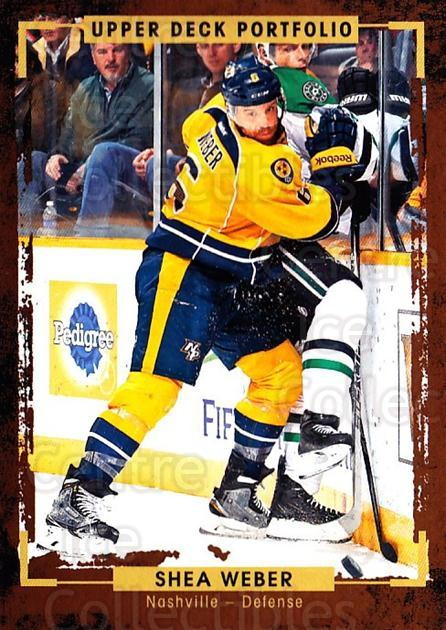 2015-16 Upper Deck Portfolio #65 Shea Weber<br/>4 In Stock - $1.00 each - <a href=https://centericecollectibles.foxycart.com/cart?name=2015-16%20Upper%20Deck%20Portfolio%20%2365%20Shea%20Weber...&quantity_max=4&price=$1.00&code=704939 class=foxycart> Buy it now! </a>