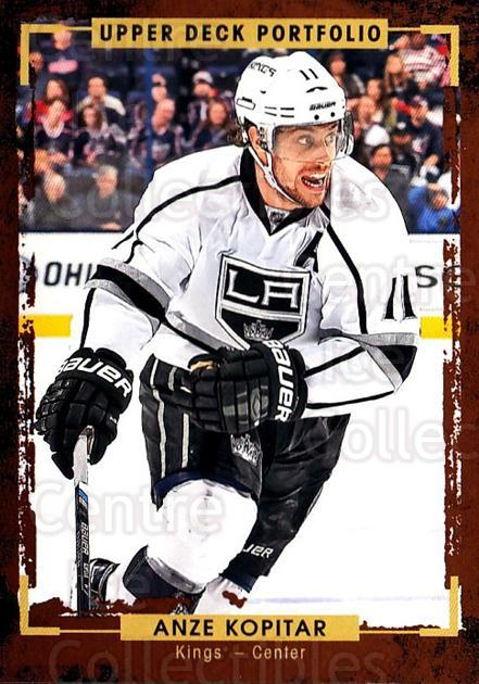 2015-16 Upper Deck Portfolio #66 Anze Kopitar<br/>5 In Stock - $1.00 each - <a href=https://centericecollectibles.foxycart.com/cart?name=2015-16%20Upper%20Deck%20Portfolio%20%2366%20Anze%20Kopitar...&quantity_max=5&price=$1.00&code=704940 class=foxycart> Buy it now! </a>