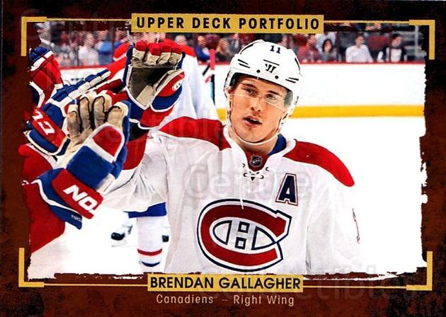 2015-16 Upper Deck Portfolio #68 Brendan Gallagher<br/>5 In Stock - $1.00 each - <a href=https://centericecollectibles.foxycart.com/cart?name=2015-16%20Upper%20Deck%20Portfolio%20%2368%20Brendan%20Gallagh...&quantity_max=5&price=$1.00&code=704942 class=foxycart> Buy it now! </a>