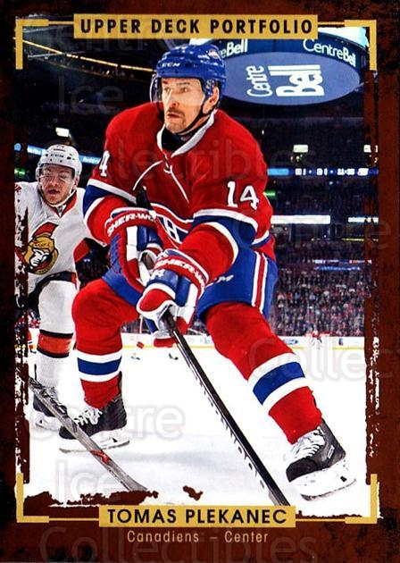 2015-16 Upper Deck Portfolio #75 Tomas Plekanec<br/>5 In Stock - $1.00 each - <a href=https://centericecollectibles.foxycart.com/cart?name=2015-16%20Upper%20Deck%20Portfolio%20%2375%20Tomas%20Plekanec...&quantity_max=5&price=$1.00&code=704949 class=foxycart> Buy it now! </a>