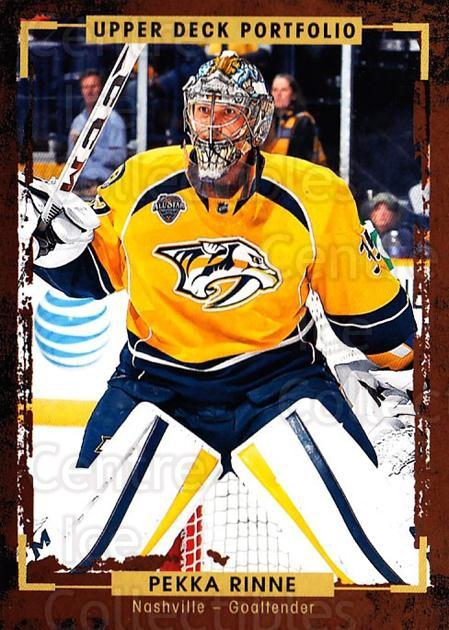 2015-16 Upper Deck Portfolio #76 Pekka Rinne<br/>4 In Stock - $1.00 each - <a href=https://centericecollectibles.foxycart.com/cart?name=2015-16%20Upper%20Deck%20Portfolio%20%2376%20Pekka%20Rinne...&quantity_max=4&price=$1.00&code=704950 class=foxycart> Buy it now! </a>