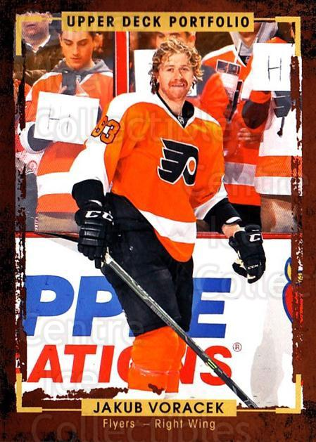 2015-16 Upper Deck Portfolio #79 Jakub Voracek<br/>5 In Stock - $1.00 each - <a href=https://centericecollectibles.foxycart.com/cart?name=2015-16%20Upper%20Deck%20Portfolio%20%2379%20Jakub%20Voracek...&quantity_max=5&price=$1.00&code=704953 class=foxycart> Buy it now! </a>