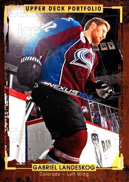 2015-16 Upper Deck Portfolio #85 Gabriel Landeskog<br/>5 In Stock - $1.00 each - <a href=https://centericecollectibles.foxycart.com/cart?name=2015-16%20Upper%20Deck%20Portfolio%20%2385%20Gabriel%20Landesk...&quantity_max=5&price=$1.00&code=704959 class=foxycart> Buy it now! </a>