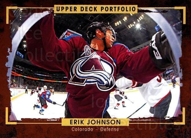 2015-16 Upper Deck Portfolio #91 Erik Johnson<br/>5 In Stock - $1.00 each - <a href=https://centericecollectibles.foxycart.com/cart?name=2015-16%20Upper%20Deck%20Portfolio%20%2391%20Erik%20Johnson...&quantity_max=5&price=$1.00&code=704965 class=foxycart> Buy it now! </a>