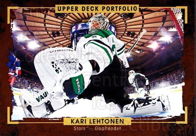 2015-16 Upper Deck Portfolio #92 Kari Lehtonen<br/>4 In Stock - $1.00 each - <a href=https://centericecollectibles.foxycart.com/cart?name=2015-16%20Upper%20Deck%20Portfolio%20%2392%20Kari%20Lehtonen...&quantity_max=4&price=$1.00&code=704966 class=foxycart> Buy it now! </a>