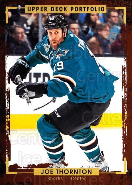 2015-16 Upper Deck Portfolio #95 Joe Thornton<br/>5 In Stock - $1.00 each - <a href=https://centericecollectibles.foxycart.com/cart?name=2015-16%20Upper%20Deck%20Portfolio%20%2395%20Joe%20Thornton...&quantity_max=5&price=$1.00&code=704969 class=foxycart> Buy it now! </a>
