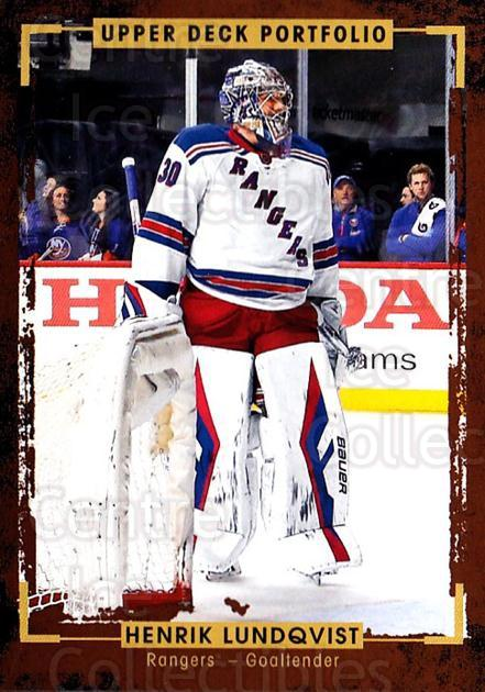 2015-16 Upper Deck Portfolio #96 Henrik Lundqvist<br/>5 In Stock - $2.00 each - <a href=https://centericecollectibles.foxycart.com/cart?name=2015-16%20Upper%20Deck%20Portfolio%20%2396%20Henrik%20Lundqvis...&quantity_max=5&price=$2.00&code=704970 class=foxycart> Buy it now! </a>