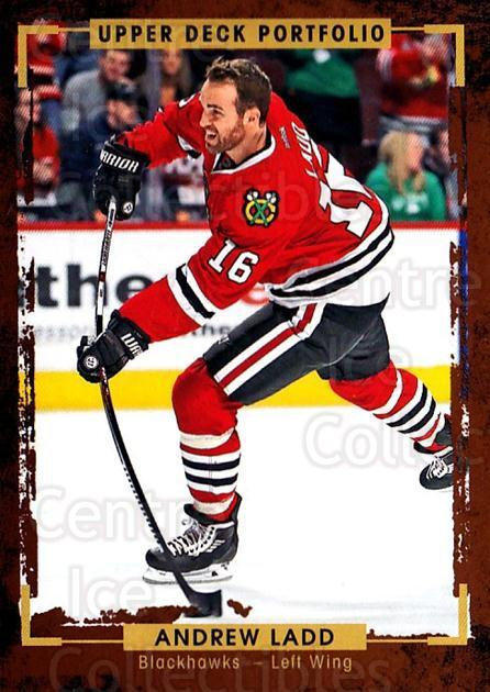 2015-16 Upper Deck Portfolio #97 Andrew Ladd<br/>4 In Stock - $1.00 each - <a href=https://centericecollectibles.foxycart.com/cart?name=2015-16%20Upper%20Deck%20Portfolio%20%2397%20Andrew%20Ladd...&quantity_max=4&price=$1.00&code=704971 class=foxycart> Buy it now! </a>