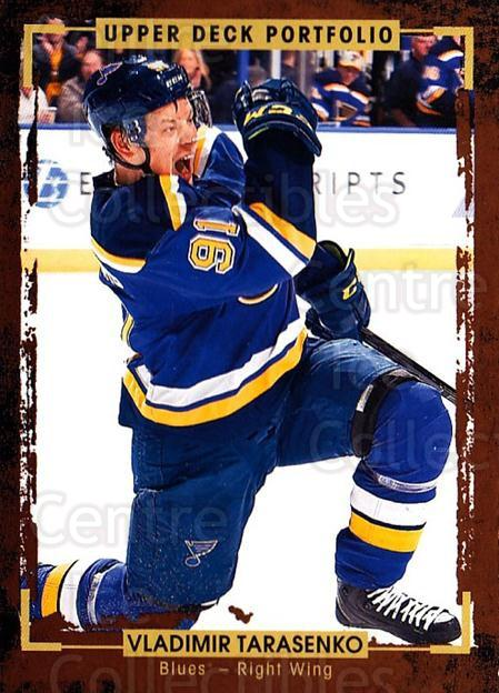 2015-16 Upper Deck Portfolio #100 Vladimir Tarasenko<br/>5 In Stock - $1.00 each - <a href=https://centericecollectibles.foxycart.com/cart?name=2015-16%20Upper%20Deck%20Portfolio%20%23100%20Vladimir%20Tarase...&quantity_max=5&price=$1.00&code=704974 class=foxycart> Buy it now! </a>