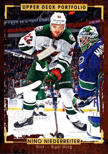 2015-16 Upper Deck Portfolio #104 Nino Niederreiter<br/>5 In Stock - $1.00 each - <a href=https://centericecollectibles.foxycart.com/cart?name=2015-16%20Upper%20Deck%20Portfolio%20%23104%20Nino%20Niederreit...&quantity_max=5&price=$1.00&code=704978 class=foxycart> Buy it now! </a>