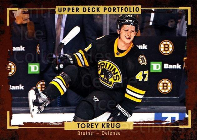 2015-16 Upper Deck Portfolio #110 Torey Krug<br/>5 In Stock - $1.00 each - <a href=https://centericecollectibles.foxycart.com/cart?name=2015-16%20Upper%20Deck%20Portfolio%20%23110%20Torey%20Krug...&quantity_max=5&price=$1.00&code=704984 class=foxycart> Buy it now! </a>