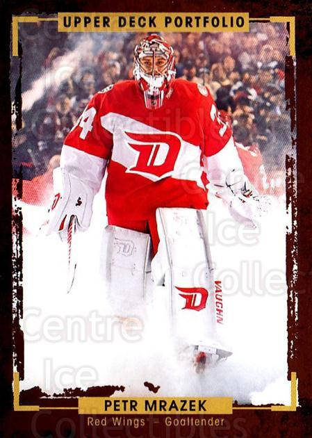 2015-16 Upper Deck Portfolio #111 Petr Mrazek<br/>3 In Stock - $1.00 each - <a href=https://centericecollectibles.foxycart.com/cart?name=2015-16%20Upper%20Deck%20Portfolio%20%23111%20Petr%20Mrazek...&quantity_max=3&price=$1.00&code=704985 class=foxycart> Buy it now! </a>