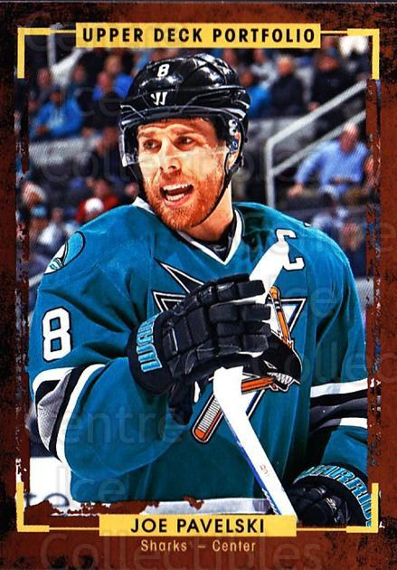 2015-16 Upper Deck Portfolio #122 Joe Pavelski<br/>5 In Stock - $1.00 each - <a href=https://centericecollectibles.foxycart.com/cart?name=2015-16%20Upper%20Deck%20Portfolio%20%23122%20Joe%20Pavelski...&quantity_max=5&price=$1.00&code=704996 class=foxycart> Buy it now! </a>