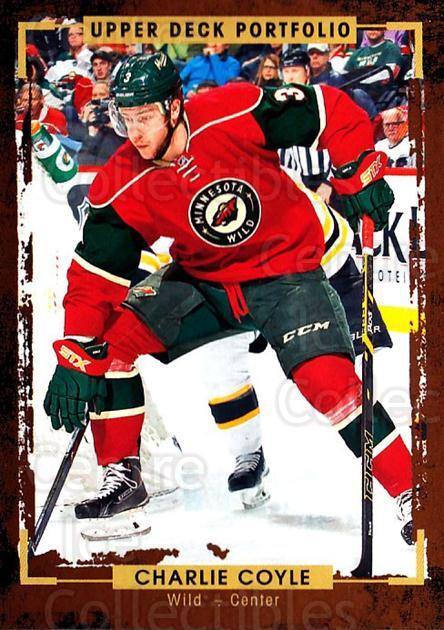 2015-16 Upper Deck Portfolio #125 Charlie Coyle<br/>4 In Stock - $1.00 each - <a href=https://centericecollectibles.foxycart.com/cart?name=2015-16%20Upper%20Deck%20Portfolio%20%23125%20Charlie%20Coyle...&quantity_max=4&price=$1.00&code=704999 class=foxycart> Buy it now! </a>
