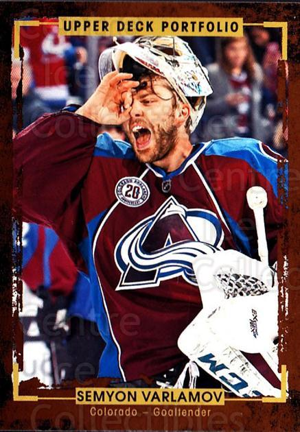 2015-16 Upper Deck Portfolio #128 Semyon Varlamov<br/>4 In Stock - $1.00 each - <a href=https://centericecollectibles.foxycart.com/cart?name=2015-16%20Upper%20Deck%20Portfolio%20%23128%20Semyon%20Varlamov...&quantity_max=4&price=$1.00&code=705002 class=foxycart> Buy it now! </a>