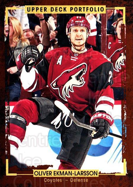 2015-16 Upper Deck Portfolio #148 Oliver Ekman-Larsson<br/>5 In Stock - $1.00 each - <a href=https://centericecollectibles.foxycart.com/cart?name=2015-16%20Upper%20Deck%20Portfolio%20%23148%20Oliver%20Ekman-La...&quantity_max=5&price=$1.00&code=705022 class=foxycart> Buy it now! </a>