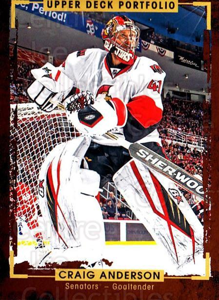2015-16 Upper Deck Portfolio #151 Craig Anderson<br/>3 In Stock - $1.00 each - <a href=https://centericecollectibles.foxycart.com/cart?name=2015-16%20Upper%20Deck%20Portfolio%20%23151%20Craig%20Anderson...&quantity_max=3&price=$1.00&code=705025 class=foxycart> Buy it now! </a>