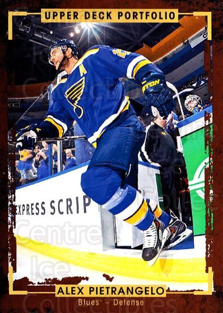 2015-16 Upper Deck Portfolio #155 Alex Pietrangelo<br/>5 In Stock - $1.00 each - <a href=https://centericecollectibles.foxycart.com/cart?name=2015-16%20Upper%20Deck%20Portfolio%20%23155%20Alex%20Pietrangel...&quantity_max=5&price=$1.00&code=705029 class=foxycart> Buy it now! </a>
