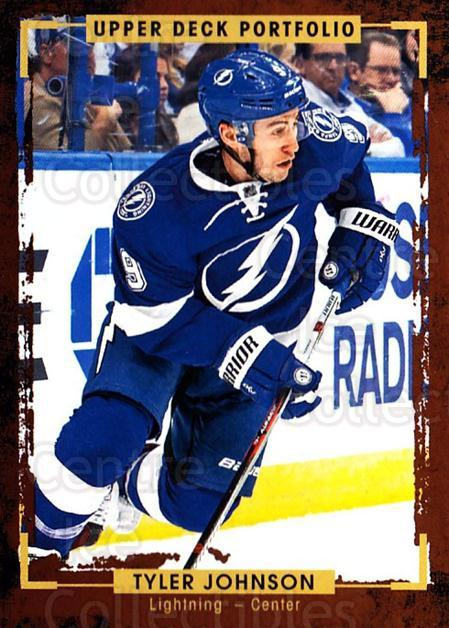 2015-16 Upper Deck Portfolio #158 Tyler Johnson<br/>5 In Stock - $1.00 each - <a href=https://centericecollectibles.foxycart.com/cart?name=2015-16%20Upper%20Deck%20Portfolio%20%23158%20Tyler%20Johnson...&quantity_max=5&price=$1.00&code=705032 class=foxycart> Buy it now! </a>