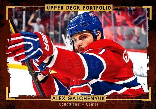 2015-16 Upper Deck Portfolio #162 Alex Galchenyuk<br/>5 In Stock - $1.00 each - <a href=https://centericecollectibles.foxycart.com/cart?name=2015-16%20Upper%20Deck%20Portfolio%20%23162%20Alex%20Galchenyuk...&quantity_max=5&price=$1.00&code=705036 class=foxycart> Buy it now! </a>