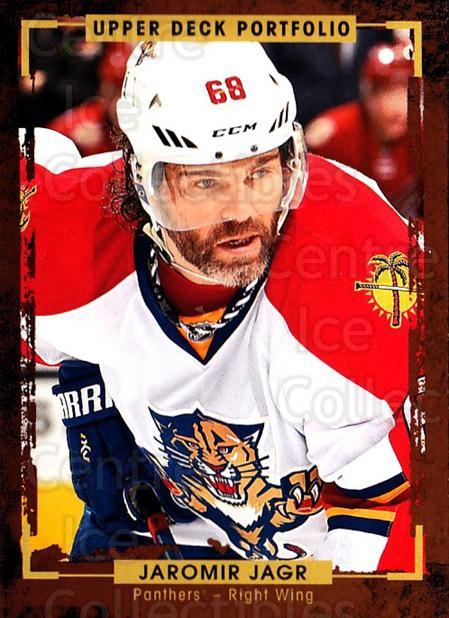 2015-16 Upper Deck Portfolio #165 Jaromir Jagr<br/>3 In Stock - $2.00 each - <a href=https://centericecollectibles.foxycart.com/cart?name=2015-16%20Upper%20Deck%20Portfolio%20%23165%20Jaromir%20Jagr...&quantity_max=3&price=$2.00&code=705039 class=foxycart> Buy it now! </a>