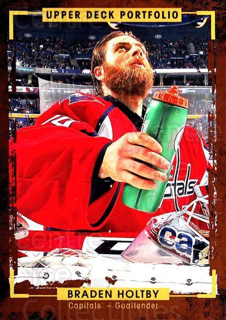 2015-16 Upper Deck Portfolio #173 Braden Holtby<br/>5 In Stock - $1.00 each - <a href=https://centericecollectibles.foxycart.com/cart?name=2015-16%20Upper%20Deck%20Portfolio%20%23173%20Braden%20Holtby...&quantity_max=5&price=$1.00&code=705047 class=foxycart> Buy it now! </a>