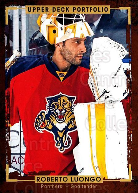 2015-16 Upper Deck Portfolio #175 Roberto Luongo<br/>4 In Stock - $1.00 each - <a href=https://centericecollectibles.foxycart.com/cart?name=2015-16%20Upper%20Deck%20Portfolio%20%23175%20Roberto%20Luongo...&quantity_max=4&price=$1.00&code=705049 class=foxycart> Buy it now! </a>
