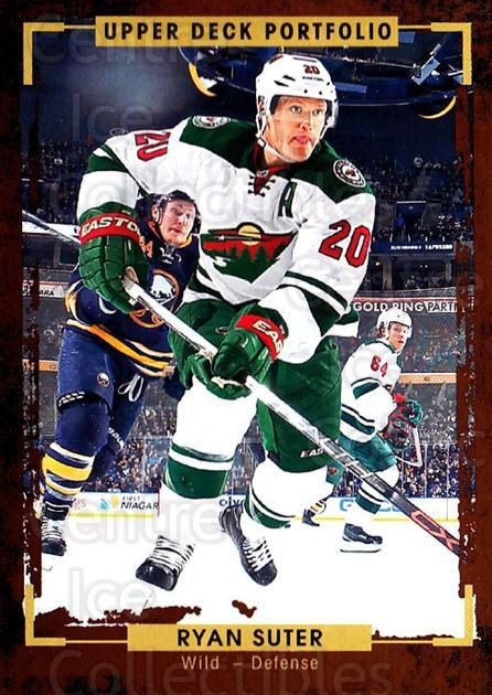 2015-16 Upper Deck Portfolio #179 Ryan Suter<br/>5 In Stock - $1.00 each - <a href=https://centericecollectibles.foxycart.com/cart?name=2015-16%20Upper%20Deck%20Portfolio%20%23179%20Ryan%20Suter...&quantity_max=5&price=$1.00&code=705053 class=foxycart> Buy it now! </a>