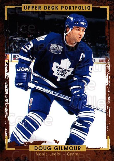 2015-16 Upper Deck Portfolio #185 Doug Gilmour<br/>4 In Stock - $1.00 each - <a href=https://centericecollectibles.foxycart.com/cart?name=2015-16%20Upper%20Deck%20Portfolio%20%23185%20Doug%20Gilmour...&quantity_max=4&price=$1.00&code=705059 class=foxycart> Buy it now! </a>