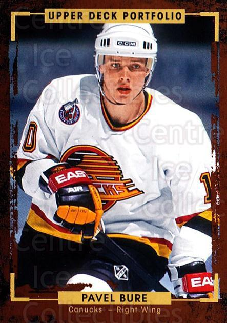 2015-16 Upper Deck Portfolio #186 Pavel Bure<br/>5 In Stock - $1.00 each - <a href=https://centericecollectibles.foxycart.com/cart?name=2015-16%20Upper%20Deck%20Portfolio%20%23186%20Pavel%20Bure...&quantity_max=5&price=$1.00&code=705060 class=foxycart> Buy it now! </a>