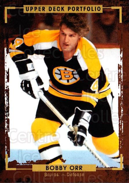 2015-16 Upper Deck Portfolio #187 Bobby Orr<br/>4 In Stock - $3.00 each - <a href=https://centericecollectibles.foxycart.com/cart?name=2015-16%20Upper%20Deck%20Portfolio%20%23187%20Bobby%20Orr...&price=$3.00&code=705061 class=foxycart> Buy it now! </a>