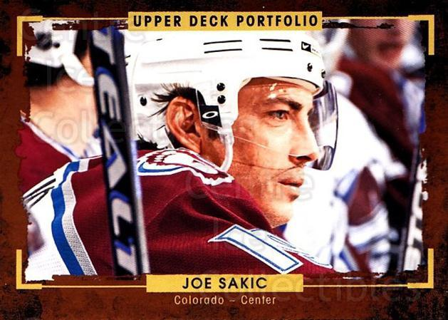 2015-16 Upper Deck Portfolio #189 Joe Sakic<br/>5 In Stock - $2.00 each - <a href=https://centericecollectibles.foxycart.com/cart?name=2015-16%20Upper%20Deck%20Portfolio%20%23189%20Joe%20Sakic...&quantity_max=5&price=$2.00&code=705063 class=foxycart> Buy it now! </a>