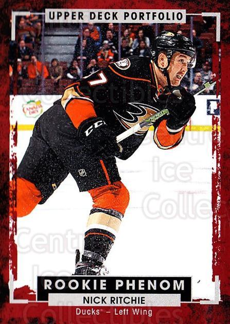 2015-16 Upper Deck Portfolio #209 Nick Ritchie<br/>5 In Stock - $3.00 each - <a href=https://centericecollectibles.foxycart.com/cart?name=2015-16%20Upper%20Deck%20Portfolio%20%23209%20Nick%20Ritchie...&quantity_max=5&price=$3.00&code=705083 class=foxycart> Buy it now! </a>