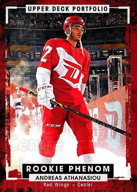 2015-16 Upper Deck Portfolio #210 Andreas Athanasiou<br/>5 In Stock - $5.00 each - <a href=https://centericecollectibles.foxycart.com/cart?name=2015-16%20Upper%20Deck%20Portfolio%20%23210%20Andreas%20Athanas...&quantity_max=5&price=$5.00&code=705084 class=foxycart> Buy it now! </a>