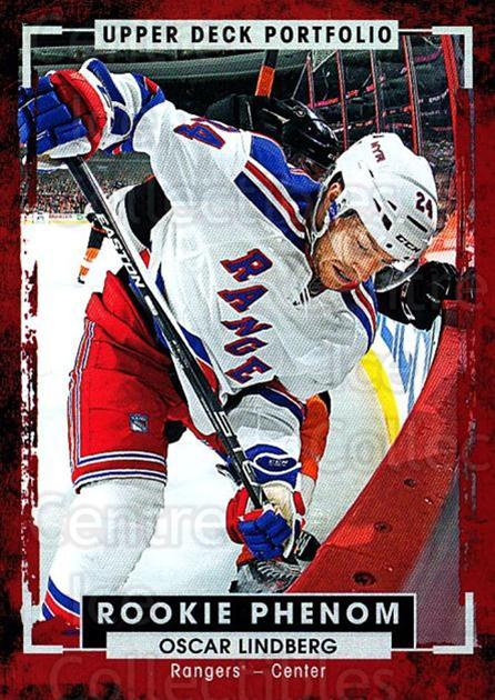2015-16 Upper Deck Portfolio #220 Oscar Lindberg<br/>7 In Stock - $3.00 each - <a href=https://centericecollectibles.foxycart.com/cart?name=2015-16%20Upper%20Deck%20Portfolio%20%23220%20Oscar%20Lindberg...&quantity_max=7&price=$3.00&code=705094 class=foxycart> Buy it now! </a>