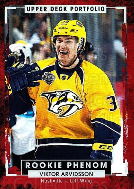 2015-16 Upper Deck Portfolio #222 Viktor Arvidsson<br/>3 In Stock - $3.00 each - <a href=https://centericecollectibles.foxycart.com/cart?name=2015-16%20Upper%20Deck%20Portfolio%20%23222%20Viktor%20Arvidsso...&quantity_max=3&price=$3.00&code=705096 class=foxycart> Buy it now! </a>