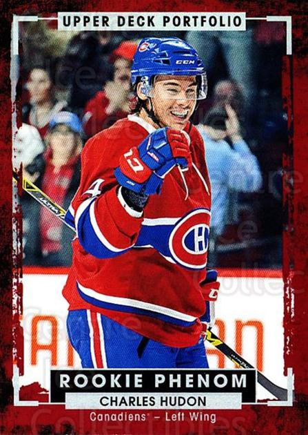 2015-16 Upper Deck Portfolio #228 Charles Hudon<br/>3 In Stock - $3.00 each - <a href=https://centericecollectibles.foxycart.com/cart?name=2015-16%20Upper%20Deck%20Portfolio%20%23228%20Charles%20Hudon...&quantity_max=3&price=$3.00&code=705102 class=foxycart> Buy it now! </a>