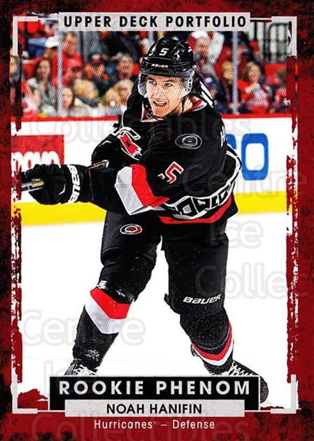 2015-16 Upper Deck Portfolio #249 Noah Hanifin<br/>1 In Stock - $5.00 each - <a href=https://centericecollectibles.foxycart.com/cart?name=2015-16%20Upper%20Deck%20Portfolio%20%23249%20Noah%20Hanifin...&quantity_max=1&price=$5.00&code=705123 class=foxycart> Buy it now! </a>