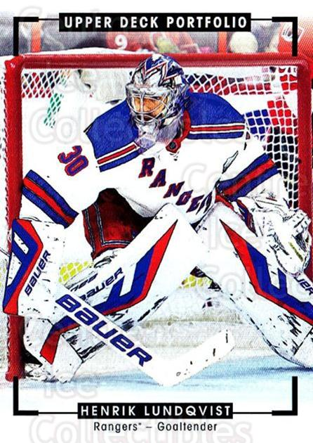 2015-16 Upper Deck Portfolio #276 Henrik Lundqvist<br/>1 In Stock - $3.00 each - <a href=https://centericecollectibles.foxycart.com/cart?name=2015-16%20Upper%20Deck%20Portfolio%20%23276%20Henrik%20Lundqvis...&quantity_max=1&price=$3.00&code=705150 class=foxycart> Buy it now! </a>