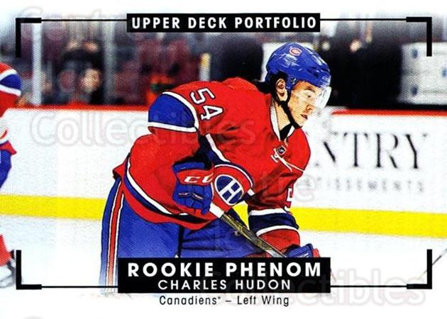 2015-16 Upper Deck Portfolio #329 Charles Hudon<br/>1 In Stock - $5.00 each - <a href=https://centericecollectibles.foxycart.com/cart?name=2015-16%20Upper%20Deck%20Portfolio%20%23329%20Charles%20Hudon...&quantity_max=1&price=$5.00&code=705203 class=foxycart> Buy it now! </a>
