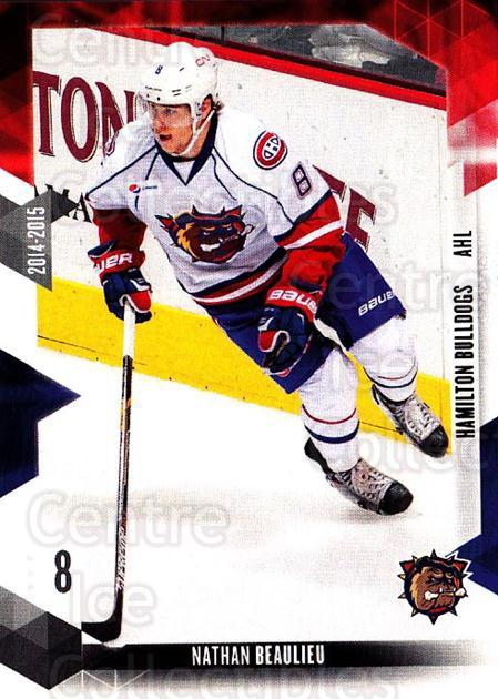 2014-15 Hamilton Bulldogs #20 Nathan Beaulieu<br/>1 In Stock - $3.00 each - <a href=https://centericecollectibles.foxycart.com/cart?name=2014-15%20Hamilton%20Bulldogs%20%2320%20Nathan%20Beaulieu...&price=$3.00&code=705307 class=foxycart> Buy it now! </a>