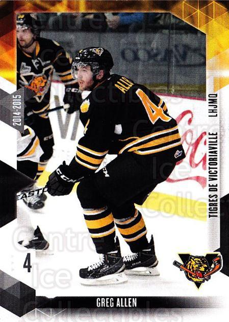 2014-15 Victoriaville Tigres #1 Greg Allen<br/>1 In Stock - $3.00 each - <a href=https://centericecollectibles.foxycart.com/cart?name=2014-15%20Victoriaville%20Tigres%20%231%20Greg%20Allen...&quantity_max=1&price=$3.00&code=705313 class=foxycart> Buy it now! </a>