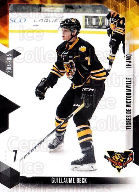2014-15 Victoriaville Tigres #2 Guillaume Beck<br/>1 In Stock - $3.00 each - <a href=https://centericecollectibles.foxycart.com/cart?name=2014-15%20Victoriaville%20Tigres%20%232%20Guillaume%20Beck...&price=$3.00&code=705314 class=foxycart> Buy it now! </a>