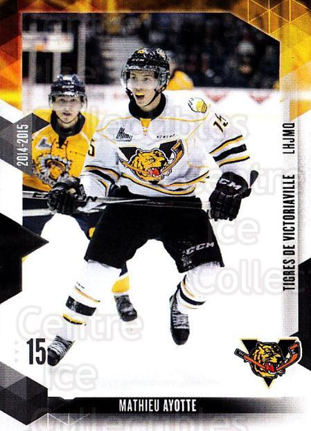 2014-15 Victoriaville Tigres #7 Mathieu Ayotte<br/>1 In Stock - $3.00 each - <a href=https://centericecollectibles.foxycart.com/cart?name=2014-15%20Victoriaville%20Tigres%20%237%20Mathieu%20Ayotte...&quantity_max=1&price=$3.00&code=705319 class=foxycart> Buy it now! </a>