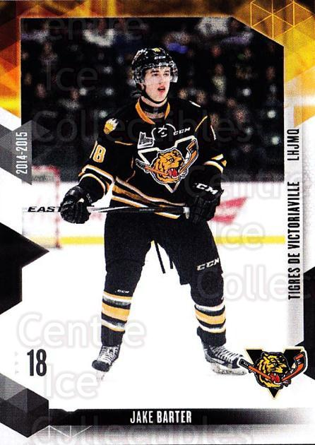 2014-15 Victoriaville Tigres #9 Jake Barter<br/>1 In Stock - $3.00 each - <a href=https://centericecollectibles.foxycart.com/cart?name=2014-15%20Victoriaville%20Tigres%20%239%20Jake%20Barter...&quantity_max=1&price=$3.00&code=705321 class=foxycart> Buy it now! </a>
