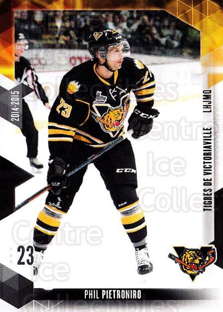 2014-15 Victoriaville Tigres #14 Phil Pietroniro<br/>1 In Stock - $3.00 each - <a href=https://centericecollectibles.foxycart.com/cart?name=2014-15%20Victoriaville%20Tigres%20%2314%20Phil%20Pietroniro...&quantity_max=1&price=$3.00&code=705326 class=foxycart> Buy it now! </a>