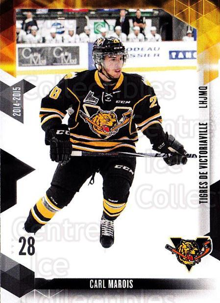 2014-15 Victoriaville Tigres #18 Carl Marois<br/>1 In Stock - $3.00 each - <a href=https://centericecollectibles.foxycart.com/cart?name=2014-15%20Victoriaville%20Tigres%20%2318%20Carl%20Marois...&quantity_max=1&price=$3.00&code=705330 class=foxycart> Buy it now! </a>