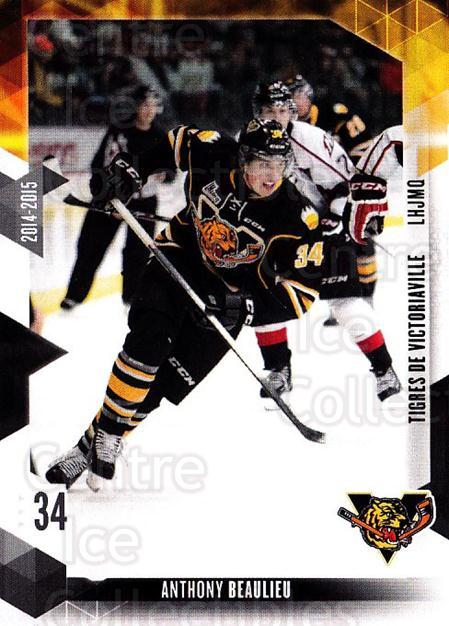 2014-15 Victoriaville Tigres #20 Anthony Beaulieu<br/>1 In Stock - $3.00 each - <a href=https://centericecollectibles.foxycart.com/cart?name=2014-15%20Victoriaville%20Tigres%20%2320%20Anthony%20Beaulie...&quantity_max=1&price=$3.00&code=705332 class=foxycart> Buy it now! </a>