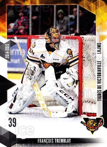 2014-15 Victoriaville Tigres #21 Francois Tremblay<br/>1 In Stock - $3.00 each - <a href=https://centericecollectibles.foxycart.com/cart?name=2014-15%20Victoriaville%20Tigres%20%2321%20Francois%20Trembl...&quantity_max=1&price=$3.00&code=705333 class=foxycart> Buy it now! </a>