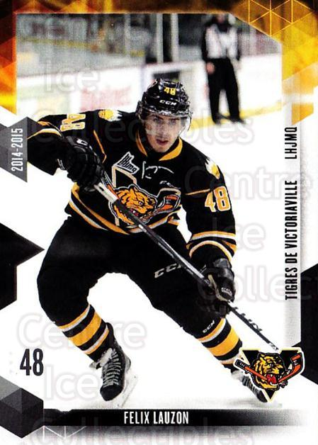 2014-15 Victoriaville Tigres #23 Felix Lauzon<br/>1 In Stock - $3.00 each - <a href=https://centericecollectibles.foxycart.com/cart?name=2014-15%20Victoriaville%20Tigres%20%2323%20Felix%20Lauzon...&quantity_max=1&price=$3.00&code=705335 class=foxycart> Buy it now! </a>